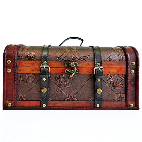 Caja de almacenamiento decorativa Caja de madera Trunk de lujo en nuestra gama 'Harper' - Ideas de regalos para regalos de cumpleaños, aniversario y felicitaciones