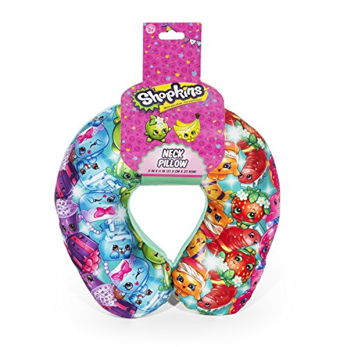FAB Starpoint Shopkins Rainbow Multi Colored Travel Neck Pillow for Kids