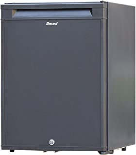 Smad No Noise Fridge 12 V Portable Mini Refrigerator with Lock 2-Way Fridge for Student Dorm, Living Room, Hotel, Office, ...
