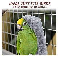 2個居心地の良いコーナーフリース鳥の毛布のオウムケージスパンル小屋暖かい鳥の巣ぶら下がっているハンモックのおもちゃの豪華な寝具 (色 : ピンク)