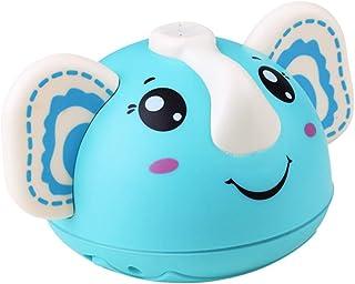 TOYANDONA Baby Bath Toys Electric Water Spray Toy Elephant Shape Rotatable Bathtub Toys Light up Animals Squirt Toys Water...