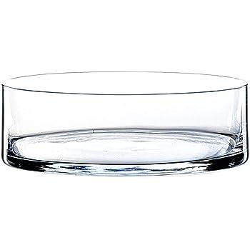 INNA-Glas Zylindrische Glasschale Vera, klar, 8cm, Ø 25cm - Obstschale - Knabberschale
