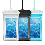 Cambond Waterproof Phone Pouch, 3 Pack Floating Waterproof Phone Case, Water Proof Cell Phone Pouch Dry Bag for iPhone 11 Pro XS Max XR X 8 7 Plus Galaxy up to 6.5', Cruise Ship Beach Kayaking Travel