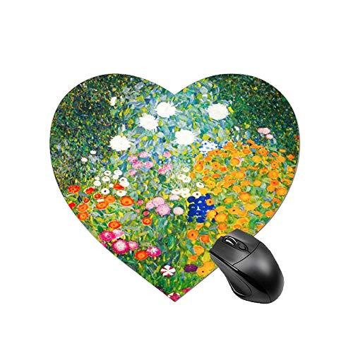 Podkładka pod mysz do gier Gustav Klimt kwiat ogród projekt na biurko i laptopa 1 opakowanie okrągła podkładka pod mysz