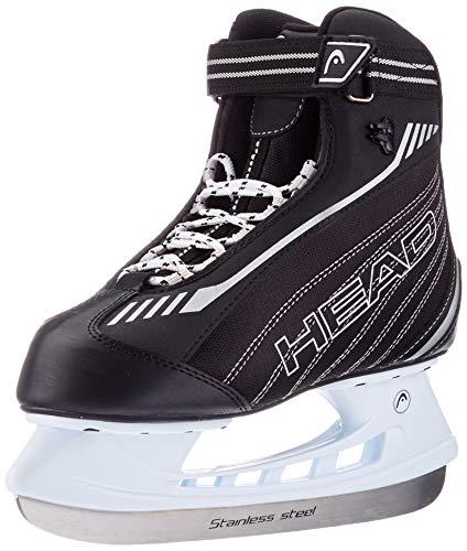 HEAD Herren Eishockey-Schlittschuhe Evo I Für Damen I wasserabweisend I Edelstahlkufen I Schwarz/Weiß, 42 EU