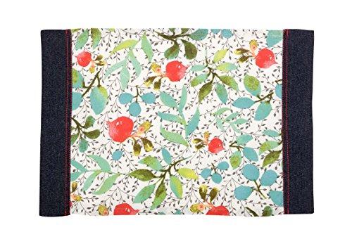 Comptoir de Famille Sets de Table Enduits - Lot de 2, 100% Coton, Multicolore, 35 x 50 cm