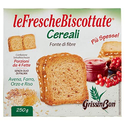 Grissinbon leFrescheBiscottate Fette Biscottate di Farina di Frumento con Cereali, 250g