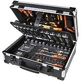 Beta Tools Beta 2056E/I-20 Attrezzi, Valigia Porta Utensili, giraviti, combinate, Bussola, Set Chiavi esagonali, 163 Pezzi
