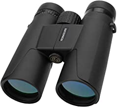 Compact Binoculars for Adults, 12X42 Roof Prism Waterproof Binoculars with Low Light Night Vision, Lightweight HD Professional Binoculars for Bird Watching Hunting Travel Concerts