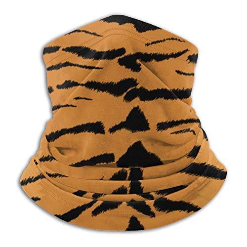 Textura de tigre sin costuras patrón animal unisex invierno polar calentador de cuello polainas Hairband tubo frío cara térmica cuello bufanda al aire libre protección UV cubierta fiesta