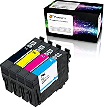 OCProducts Remanufactured for Epson 702 Ink Cartridge 4 Pack for WorkForce Pro WF-3720