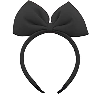 Bow Headband Big Bowknot Headband Hair Hoops Party Decoration Headdress Cosplay Costume Headwear Christmas Makeup Handmade Headpiece Hair Band Elastic Women Girls Kids Hair Accessories 1 Pack Black