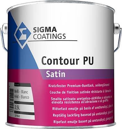 Contour PU Satin 2,5L weiß SIGMA COATINGS