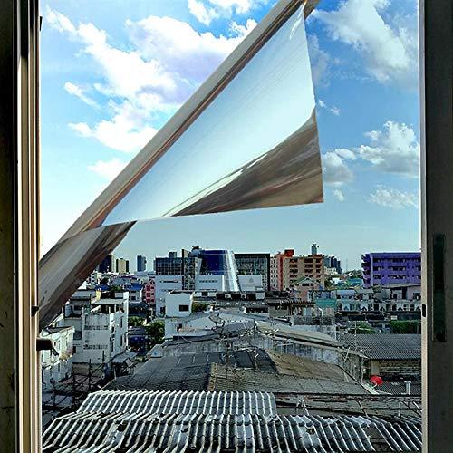 BLOUR 50/60 cm Einweg-Spiegelfensterfolie Selbstklebende reflektierende Privatsphäre Glasaufkleber Tönungswärmesteuerung Solarfolie
