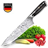 Teclat Kitchen Knife 8 inch - Genuine German Stainless Steel Chef's Knife with Ergonomic - Robust Handle - Ultra Sharp Knife Kitchen - Non-Stick and Anti-Corrosion (8 Inches / 20.3 cm)