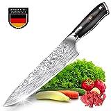 Teclat Couteau de Cuisine Couteau de Chef Authentique Allemand en Acier Inoxydable à Haute Teneur en Carbone avec Manche Ergonomique et Robuste - Couteau de Cuisine 20cm
