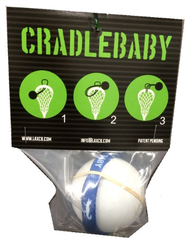 CradleBaby Rubber Lacrosse Ball for Training Indoor, Outdoor, Shooting, Catching (Royal Blue/White)
