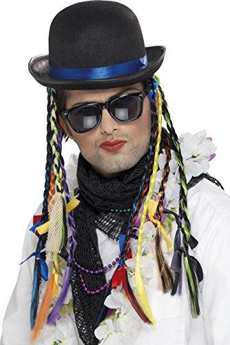 Boy George Karma Chameleon Bowler Hat with Plaits