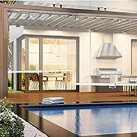 XIAOLIN 屋外クリアプラスチックローラーブラインド、 PVC.フィッティングとウィンドウ防雨カーテンが透明、簡単にインストールする(カラー:W×H) (Color : Clear, Size : W80xL110cm)