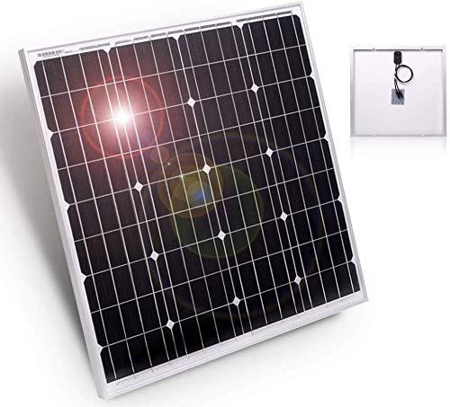 DOKIO Panel Solar Monocristalino 150w 12v,ALTA EFICIENCIA,ROBUSTO para carga de batería CASA RV