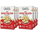 Quinn Movie Theater Extra Butter Microwave Popcorn (6 Cartons, 12 Bags)