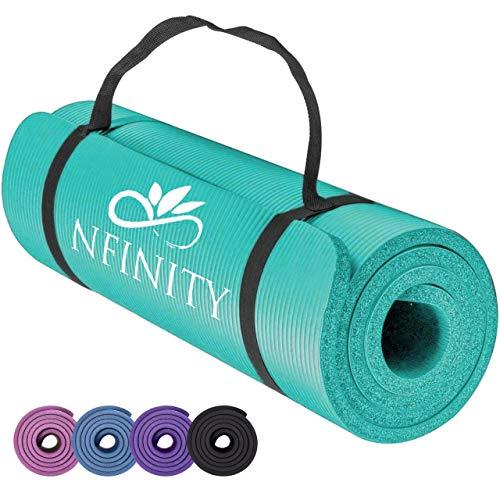 RMK Yoga Mat NBR Exercise Fitness Foam Extra Thick Non-Slip Large Padded...