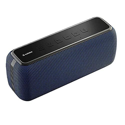 XJST Altavoz Bluetooth, Altavoces Inalámbricos Portátiles, Altavoz Bluetooth De Alta Potencia De 60W, Tiempo De Juego De 24 Horas para El Hogar, Fiesta,Azul