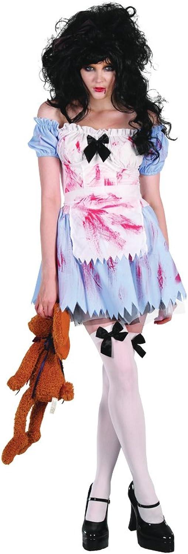 Bristol Novelty AC283 Zombie Girl Costume, White, UK Size 1014