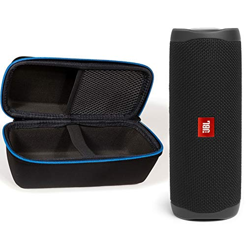 JBL Flip 5 Waterproof Portable Wireless Bluetooth Speaker Bundle with divvi! Protective Hardshell Case - Black