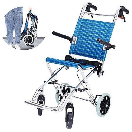 Wheelchair H-Rollstuhl Faltrollstuhl HJH- Rollstuhl faltbar - Rollstühle leicht faltbar - selbstfahrenden Rollstühlen |Sitzbreite 30 cm |Maximal unterstützte Gewicht 75 kg Eigenantrieb