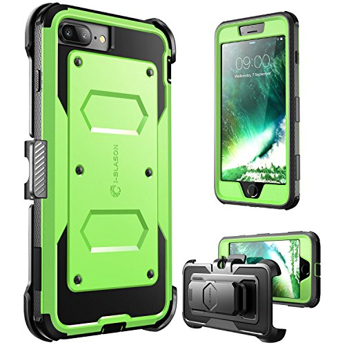i-Blason Case for iPhone 8 Plus/iPhone 7 Plus, Armorbox Built in Screen Protector Full Body Heavy Duty Protection Case With Shock Reduction/Bumper (Green)