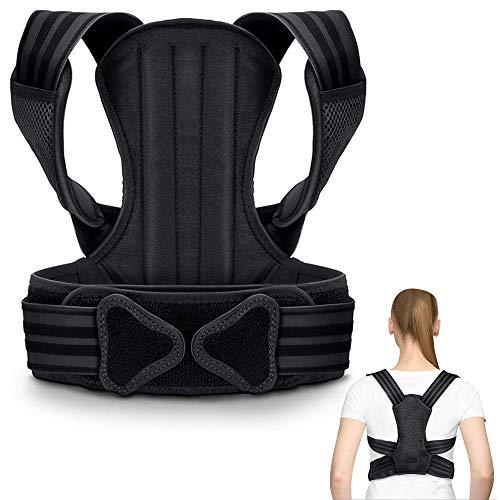 UTOBEST Corrector de Postura, Corrector Postura Espalda Hombre Mujer Talla Asjustable Faja Espalda Recta Soporte S/M/L