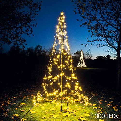 Fairybell LED Weihnachtsbaum, 300 Lichter, warmweiß, inkl. Mast, ca. 200x85 cm