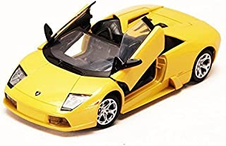 Lamborghini Murcielago Roadster, Yellow Motormax 73316 1/24 Scale Diecast Model Toy Car
