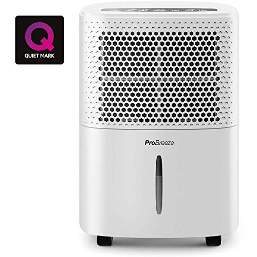 Pro Breeze 12L/Day Dehumidifier with Digital Humidity Display, Sleep Mode, Continuous Drainage, Laundry...