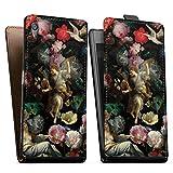 Étui Compatible avec Sony Xperia Z5 Étui à Rabat Étui magnétique Peinture Eglise Fleur