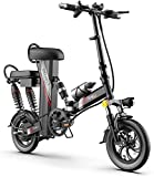 Bicicletas Eléctricas, Ligero 350W plegable pedaleo asistido E-Bici, Urban plegable de cercanías E-Bici, Velocidad máxima 25 kilometros / h, 12' Scooter eléctrico Bicicleta, 48V 20Ah de carga, bicicle