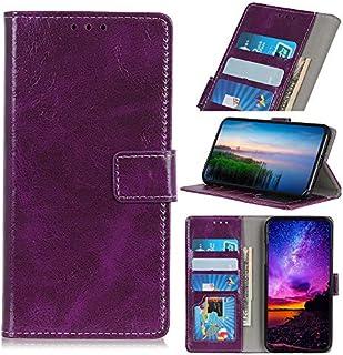 の Xiaomi Redmi Go シェル, [余分な カード スロット] MeetJP [財布 シェル] PU レザー TPU ケーシング ウォレットケース [ドロッププロテクション] カバー の Xiaomi Redmi Go, Purple