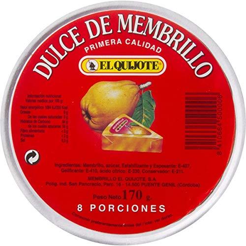 El Quijote- Dulce de Membrillo- Ideal para Untar en Tostadas - 8 Porciones Individuales - Peso Neto 170