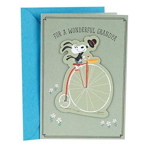 Hallmark Peanuts Father's Day Card for Grandpa (Snoopy Riding a Bike)