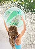 moses. 38077 Glitzernder Glitzer-Wasserball | Kinder-Spielball für Strand und Schwimmbad | 40 cm Durchmesser, durchsichtig - 4