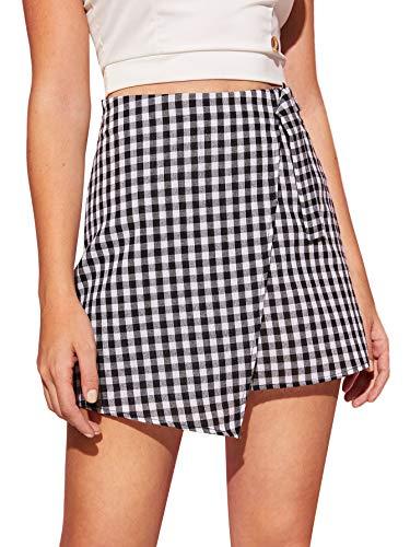 Black and White Gingham Skirt