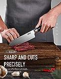 Deik Küchenmesser, Professionelle Damastmesser Kochmesser aus VG10 Edelstahl mit Scharfer Klinge und Ergonomischem Griff - 4