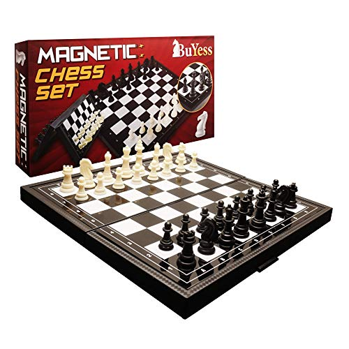 Chess Set for Kids, Adults, Family 9.8 x 9.8 inches Magnetic Travel Portable Folding Mini Board Game