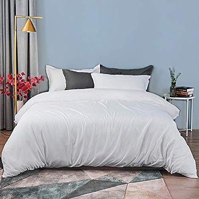 Amazon - 60% Off on Queen Duvet Cover Set Brushed Microfiber 3 Pieces, 1 Duvet Cover + 2 Pillow