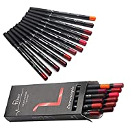 TEEROVA 12 Colors Lip Liner Pencil Matte Mist Waterproof Long Lasting Lipstick Lip Liner Set