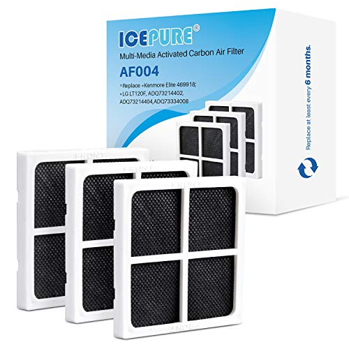 ICEPURE LT120F Refrigerator Air Filter Replacement for LG LT120F, Kenmore Elite 469918, ADQ73214402, ADQ73214404, 3PACK