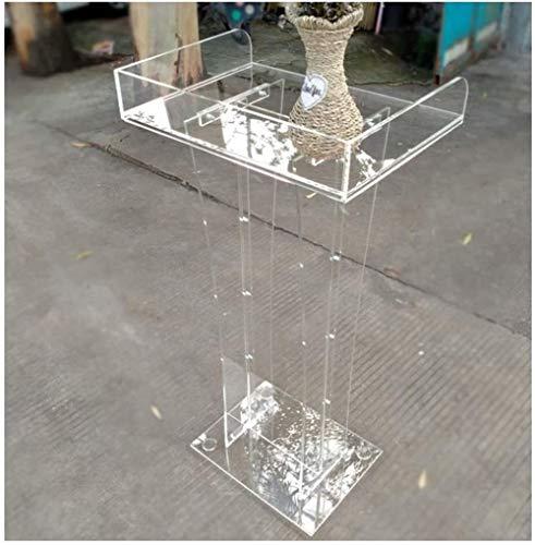 PULLEY -L Klares Acryl-Lespult – Modernes Plexiglas-Design für Konferenzen, Moderatoren, Auszeichnungen, Seminare, Büropodium/transparent/55 × 40 × 115 cm Riemenscheibe-L