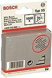 Bosch 1 609 200 389 - Grapa de lomo estrecho tipo 55 resinificada, 6 x 1,08 x 19 mm, pack de 1000
