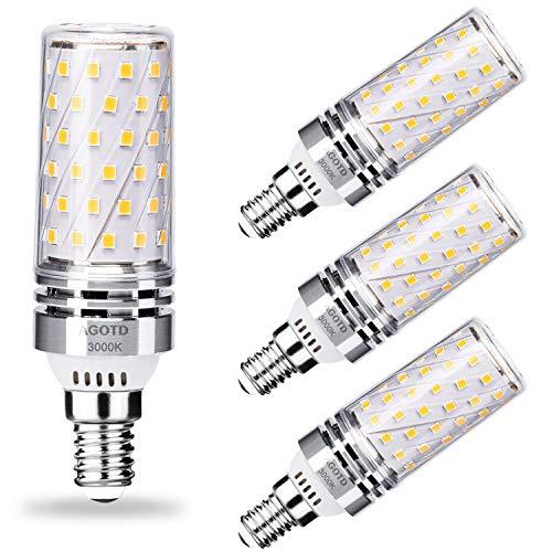 AGOTD E14 Maiskolben LED Lampen 12W LED Glühbirne Warmweiß 3000K 1350LM Edison-Schraube Kerze Leuchtmittel E14 LED Mais Birnen Glühlampen Energiesparlampe statt 100W Halogenlampe AC220-240V, 4er-Pack